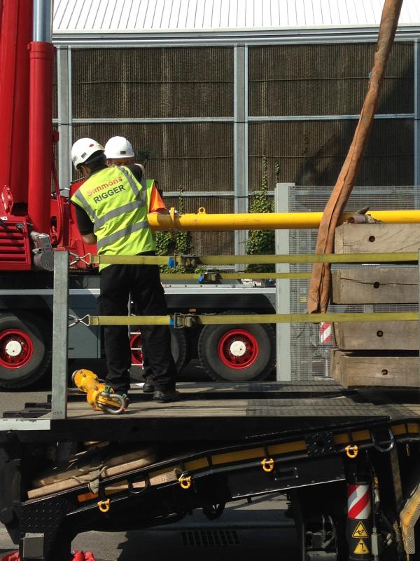 Crane hire for chiller lifting